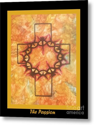 Metal Print featuring the painting The Passion 2 By Saribelle Rodriguez by Saribelle Rodriguez