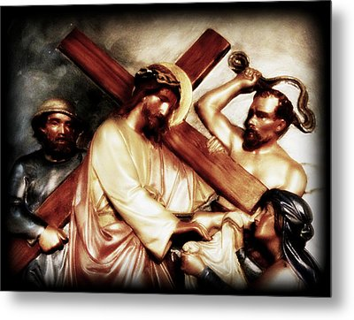 The Passion Of Christ Vii Metal Print by Aurelio Zucco