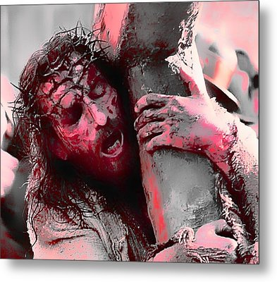 The Passion Of The Christ 'for Our Sins' Metal Print