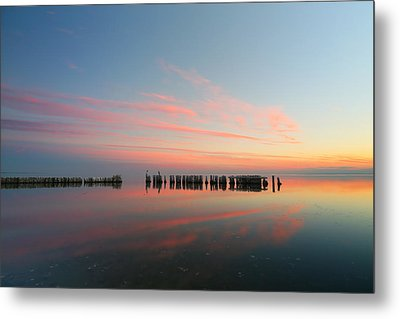 The Pastel Sea Metal Print by Larry Marshall