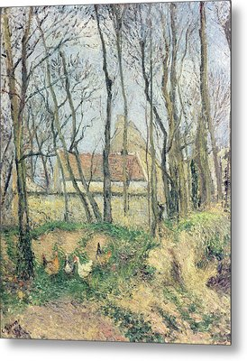 The Path Of The Wretched Metal Print by Camille Pissarro
