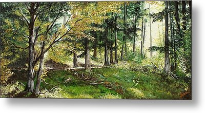 Metal Print featuring the painting The Path by Sorin Apostolescu