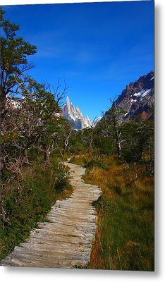 The Path To Mountains Metal Print