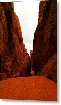 The Path To San Dune Falls Metal Print by Jeff Swan