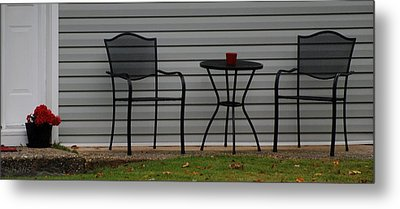 The Patio In Living Color Metal Print by Rob Hans
