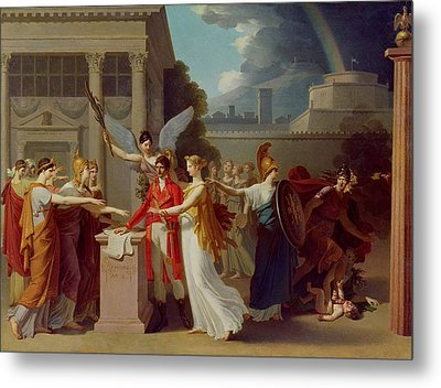 The Peace Of Amiens, 25th March 1802 Oil On Canvas Metal Print by Anatole Devosge