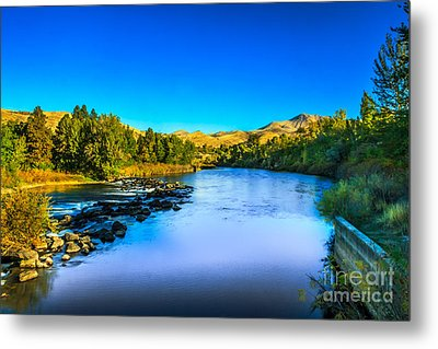 The Peaceful And Beautiful Payette River Metal Print by Robert Bales