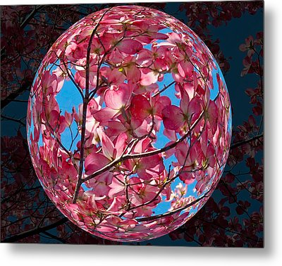 Metal Print featuring the photograph The Peach Tree Sphere by William Havle