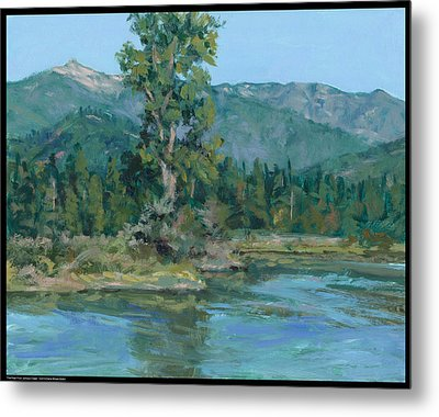 The Peak From Johnson Creek Metal Print by Diana Moses Botkin