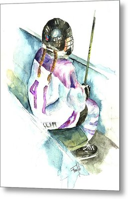 The Penalty Box Metal Print by Leslie Franklin