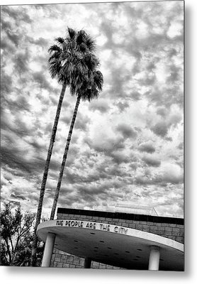 The People Are The City Palm Springs City Hall Metal Print