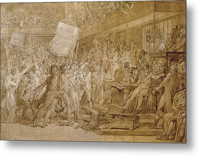 The People Of Paris Storm The Tuileries Metal Print by Francois Pascal Simon Gerard