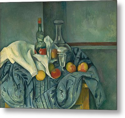 The Peppermint Bottle Metal Print by Paul Cezanne
