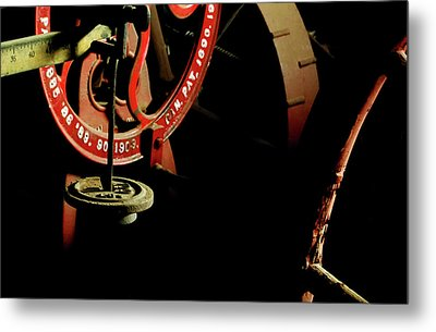 The Perfect Balance - Vintage Scales And Wheels Metal Print by Steven Milner