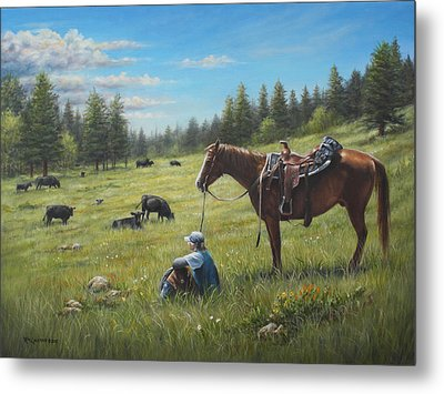 Metal Print featuring the painting The Perfect Day by Kim Lockman