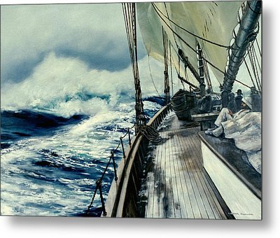 The Perfect Storm Metal Print by Michael Swanson
