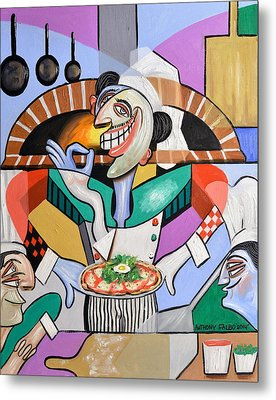 The Personal Size Gourmet Pizza Metal Print by Anthony Falbo