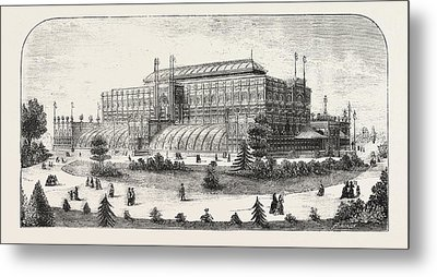 The Philadelphia Exhibition, The Horticultural Buiding Metal Print by American School