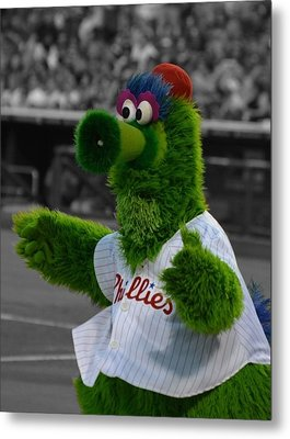 The Phillie Phanatic Metal Print