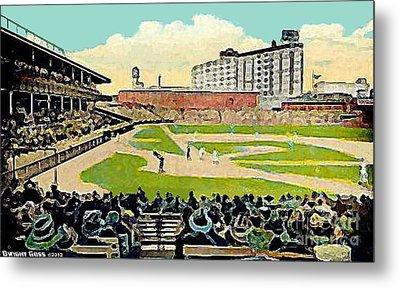 The Phillies Baker Bowl In Philadelphia Pa In 1914 Metal Print by Dwight Goss