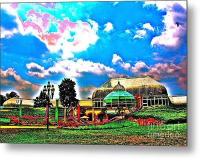 The Phipps Conservatory Metal Print by Jay Nodianos