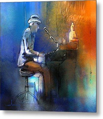 The Pianist 01 Metal Print by Miki De Goodaboom