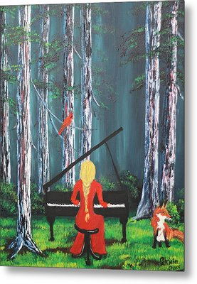 The Pianist In The Woods Metal Print