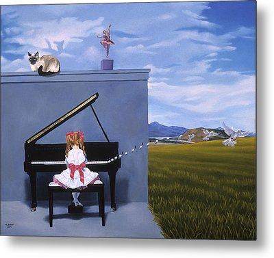 The Piano Player Metal Print by Michael Bridges