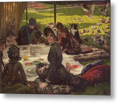 The Picnic Dejeuner Sur Lherbe, C.1881-2 Panel Metal Print