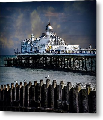 The Pier At Eastbourne Metal Print by Chris Lord