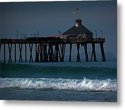 The Pier At Imperial Beach Metal Print by Steve Battle