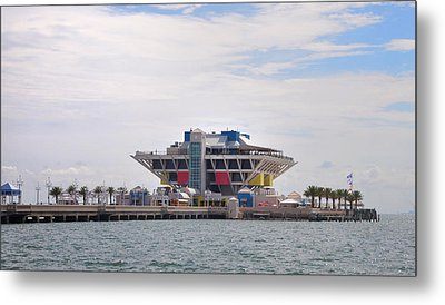 The Pier At St Petersburg Metal Print by Bill Cannon