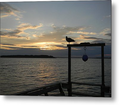 The Pier Metal Print by Jean Goodwin Brooks