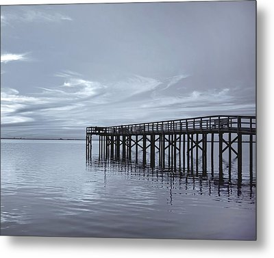 The Pier Metal Print by Kim Hojnacki