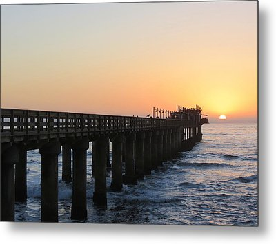 Metal Print featuring the photograph The Pier by Ramona Johnston