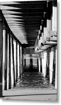 The Pier Metal Print by Tommytechno Sweden