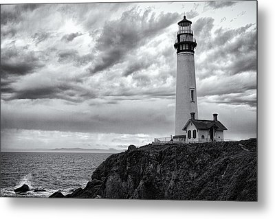 The Pigeon Point Beacon Metal Print by Eduard Moldoveanu