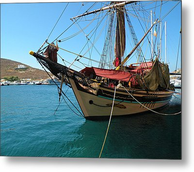 Metal Print featuring the photograph The Pirate Ship  by Micki Findlay