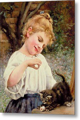The Playful Kitten Metal Print by Leo Malempre