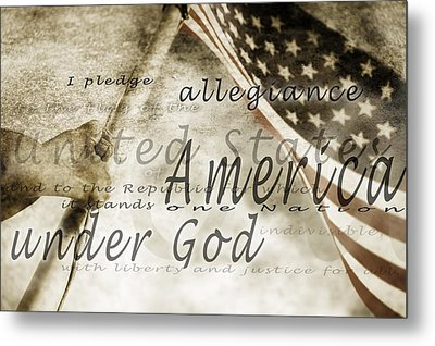 The Pledge Of Allegiance And An Metal Print by Chris and Kate Knorr