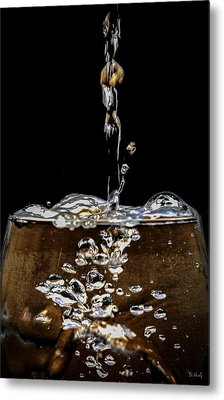 The Plunge Metal Print by PhotoWorks By Don Hoekwater