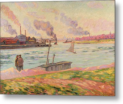 The Pointe D'ivry Metal Print by Jean Baptiste Armand Guillaumin