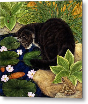 The Pond Metal Print by Anne Mortimer
