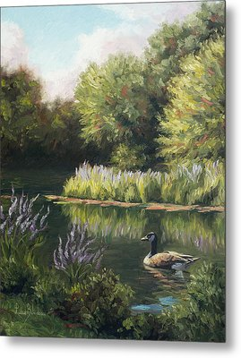 The Pond Metal Print by Lucie Bilodeau