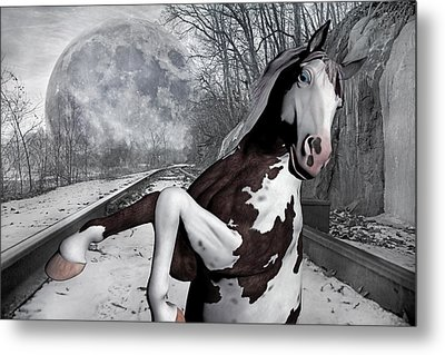 The Pony Express Metal Print by Betsy Knapp