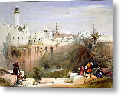 The Pool  Of Bethesda Jerusalem Metal Print by Munir Alawi