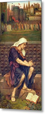 The Poor Man Who Saved The City Metal Print by Evelyn De Morgan