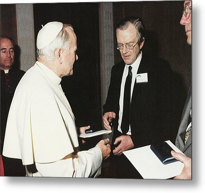 The Pope And Maurice Wilkins Metal Print by King's College London Archives