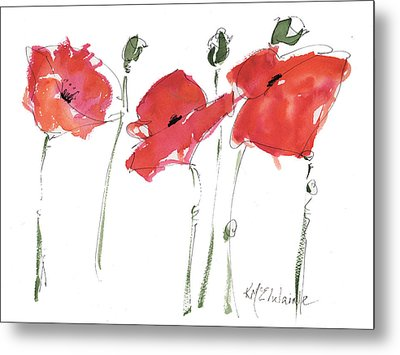 The Poppy Ladies Metal Print