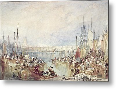 The Port Of London Metal Print by Joseph Mallord William Turner